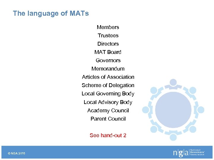 The language of MATs Members Trustees Directors MAT Board Governors Memorandum Articles of Association