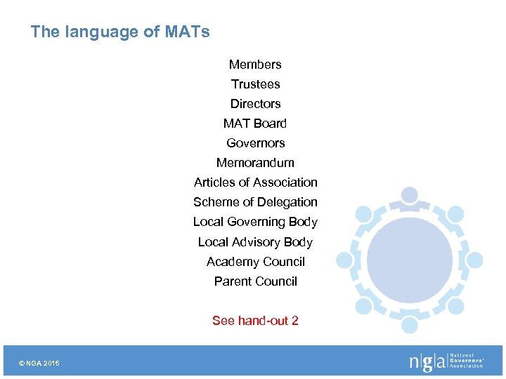 The language of MATs Members Trustees Directors MAT Board Governors Memorandum Articles of Association