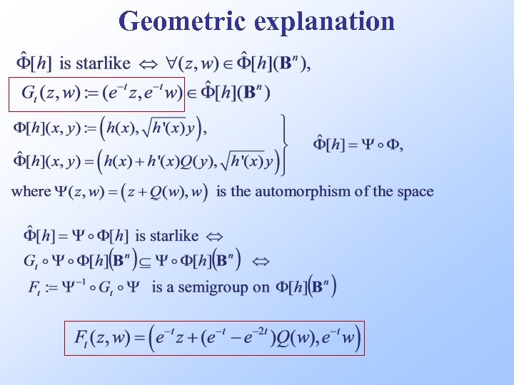 Geometric explanation