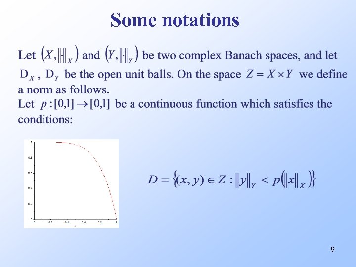 Some notations 9