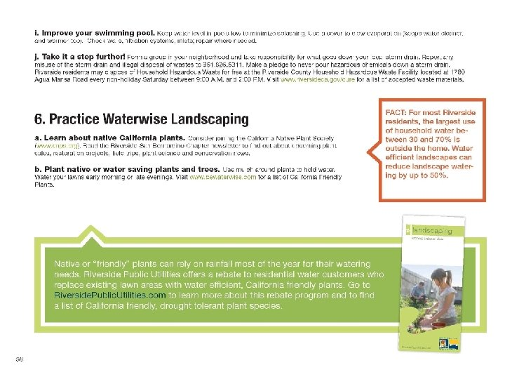 """Community Resource § Residents want ACTION! Created the """"Sustainability workbook"""" è Covers 4 areas"""