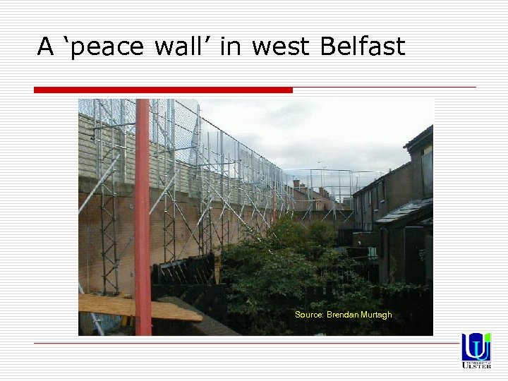 A 'peace wall' in west Belfast Source: Brendan Murtagh