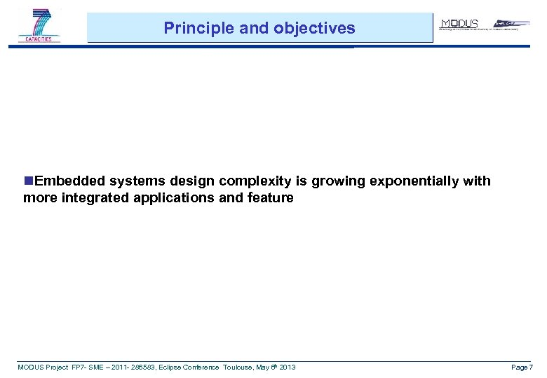 Principle and objectives n. Embedded systems design complexity is growing exponentially with more integrated
