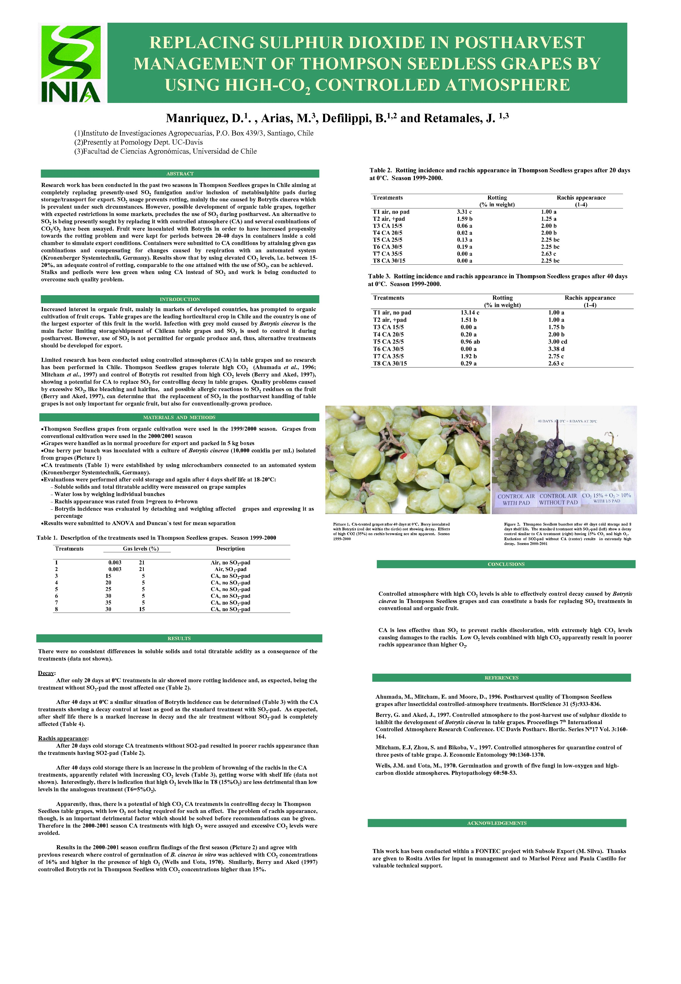 REPLACING SULPHUR DIOXIDE IN POSTHARVEST MANAGEMENT OF THOMPSON SEEDLESS GRAPES BY USING HIGH-CO 2