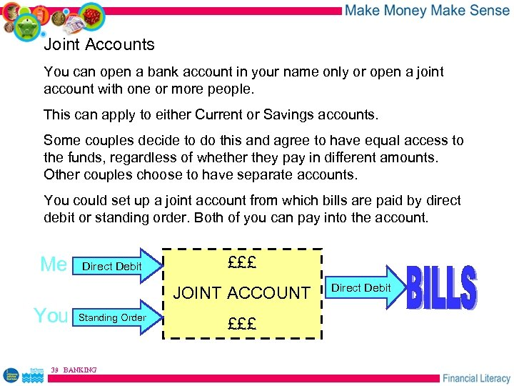 Joint Accounts You can open a bank account in your name only or open