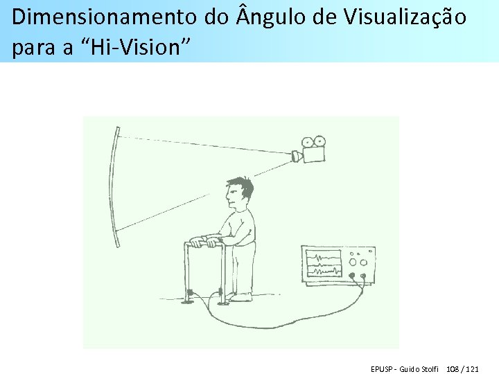 """Dimensionamento do ngulo de Visualização para a """"Hi-Vision"""" EPUSP - Guido Stolfi 108 /"""