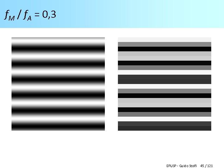 f. M / f. A = 0, 3 EPUSP - Guido Stolfi 45 /