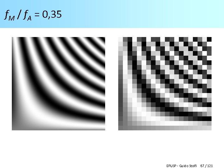 f. M / f. A = 0, 35 EPUSP - Guido Stolfi 67 /