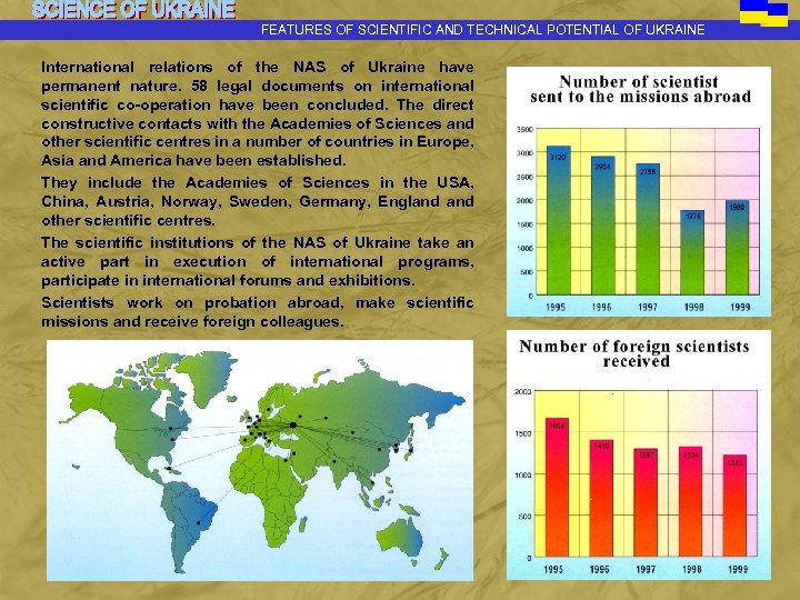 FEATURES OF SCIENTIFIC AND TECHNICAL POTENTIAL OF UKRAINE International relations of the NAS of