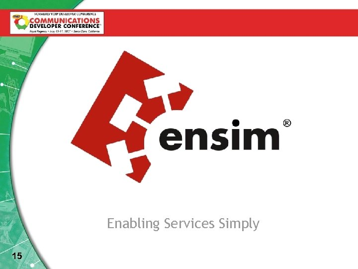 Enabling Services Simply 15