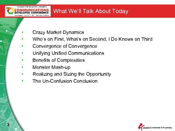 What We'll Talk About Today • • 3 Crazy Market Dynamics Who's on First,