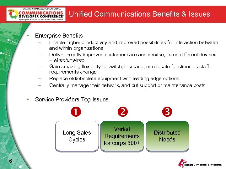 Unified Communications Benefits & Issues • Enterprise Benefits – – – • Enable higher
