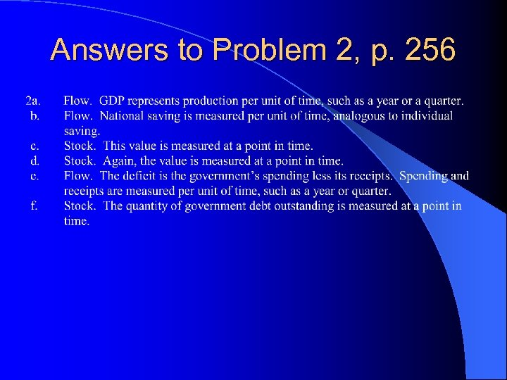 Answers to Problem 2, p. 256