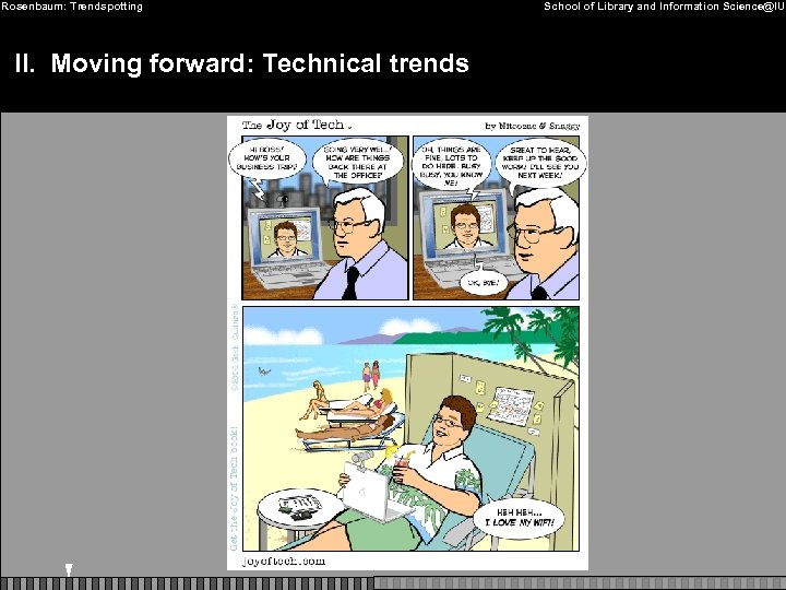 Rosenbaum: Trendspotting II. Moving forward: Technical trends School of Library and Information Science@IU
