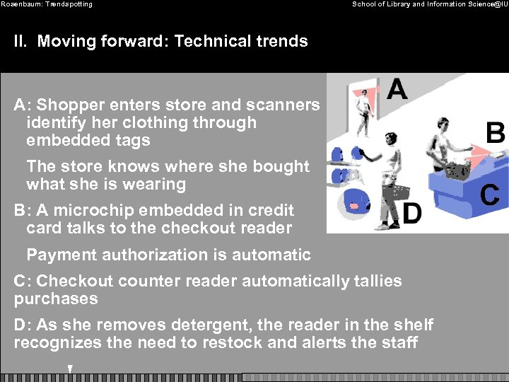 Rosenbaum: Trendspotting School of Library and Information Science@IU II. Moving forward: Technical trends A: