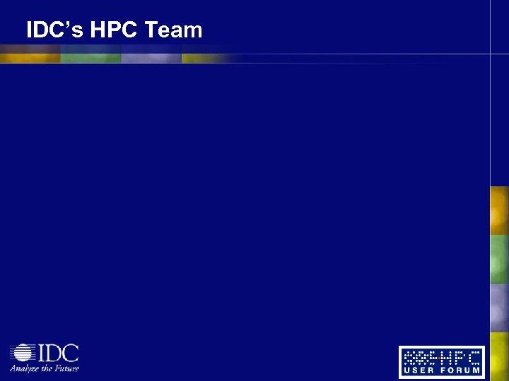 IDC's HPC Team