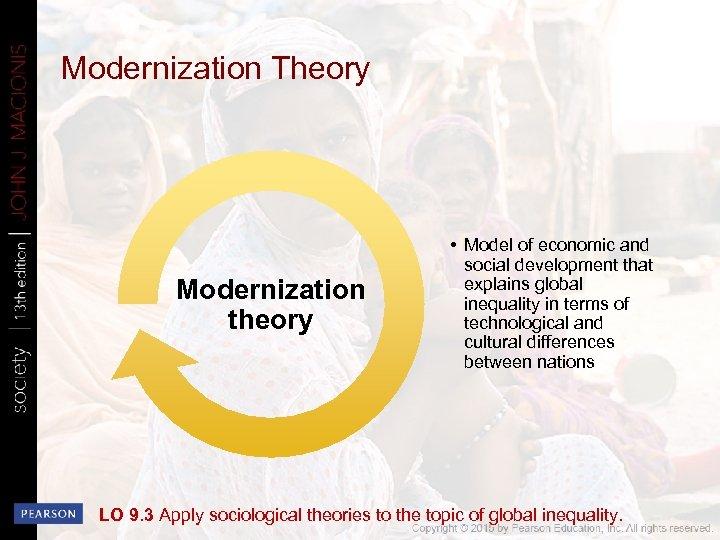 Modernization Theory Modernization theory • Model of economic and social development that explains global