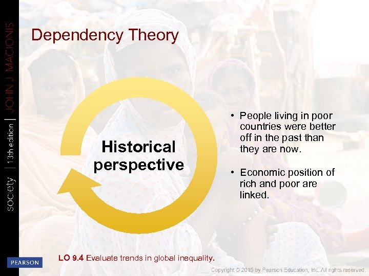 Dependency Theory Historical perspective LO 9. 4 Evaluate trends in global inequality. • People