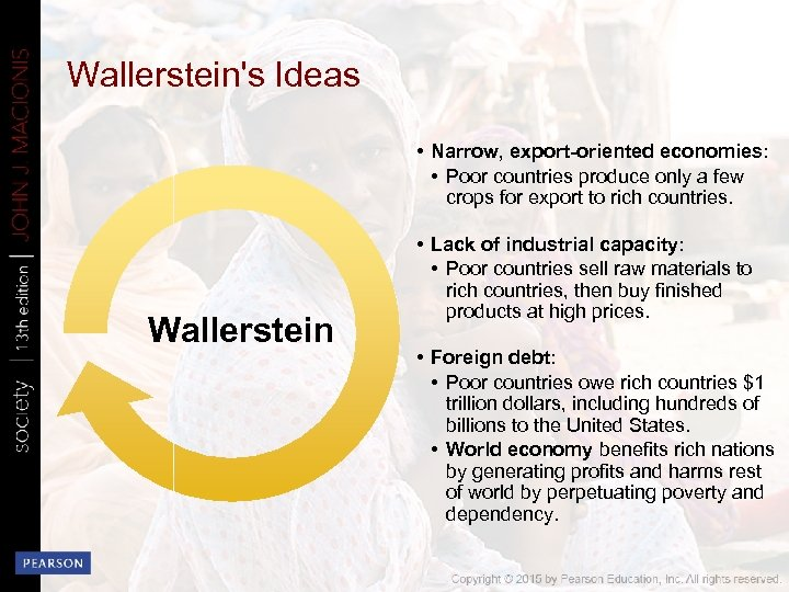 Wallerstein's Ideas • Narrow, export-oriented economies: • Poor countries produce only a few crops