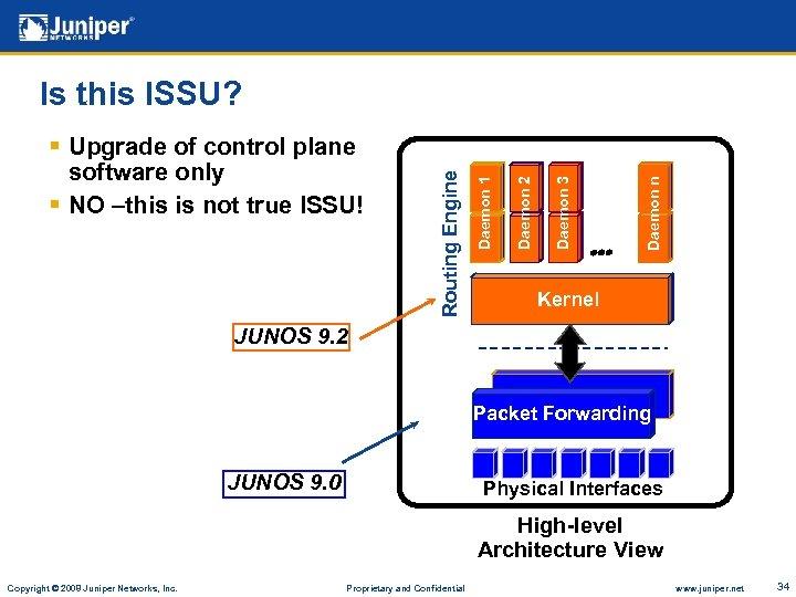 Daemon n Daemon 3 Daemon 2 Daemon 1 § Upgrade of control plane software