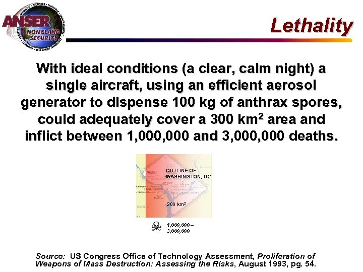Lethality With ideal conditions (a clear, calm night) a single aircraft, using an efficient