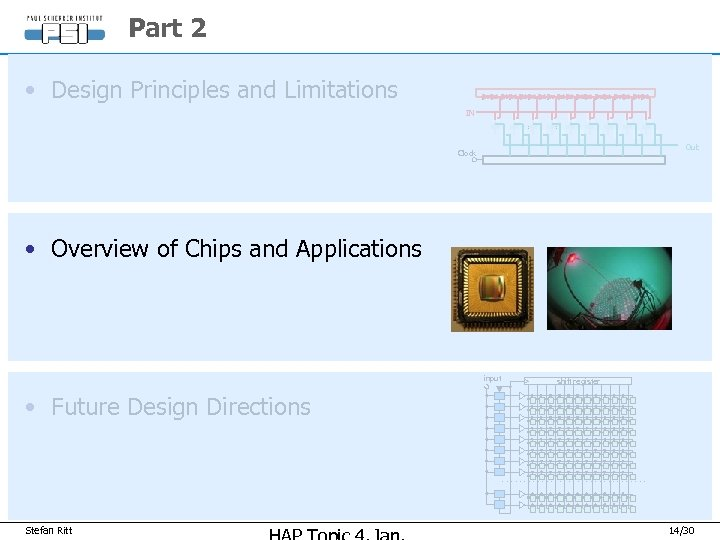 Part 2 • Design Principles and Limitations IN Out Clock • Overview of Chips