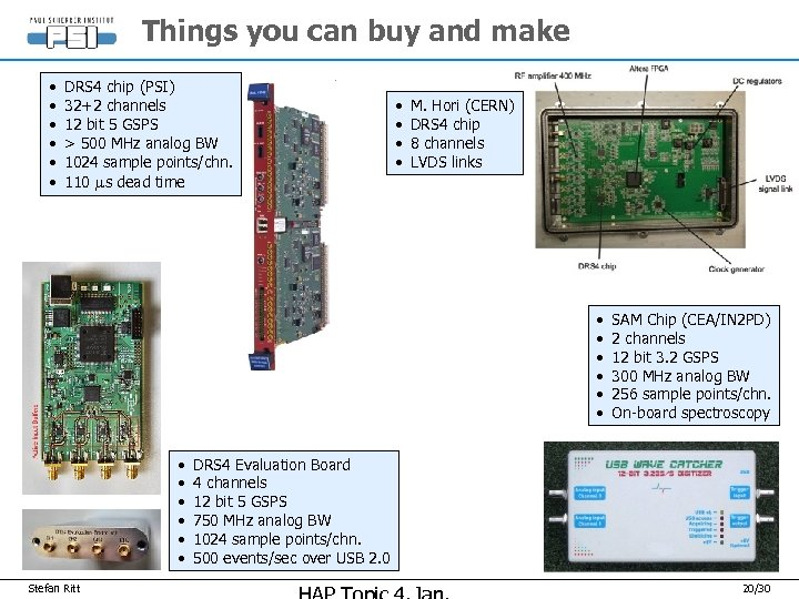 Things you can buy and make • • • DRS 4 chip (PSI) 32+2