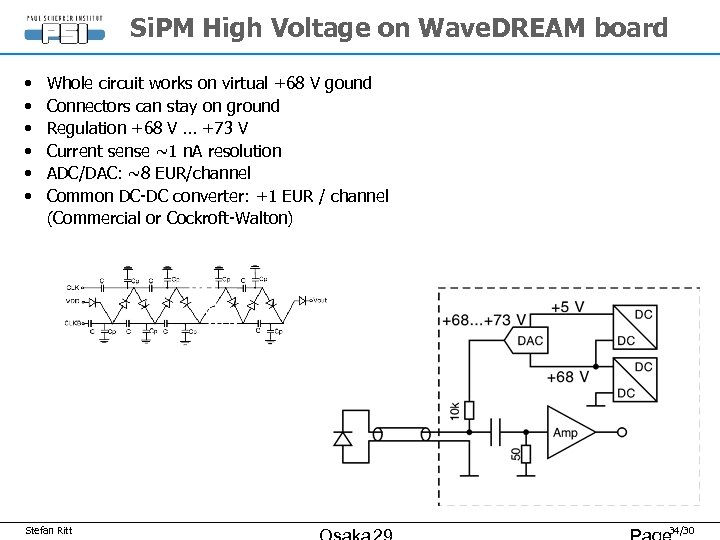 Si. PM High Voltage on Wave. DREAM board • • • Whole circuit works