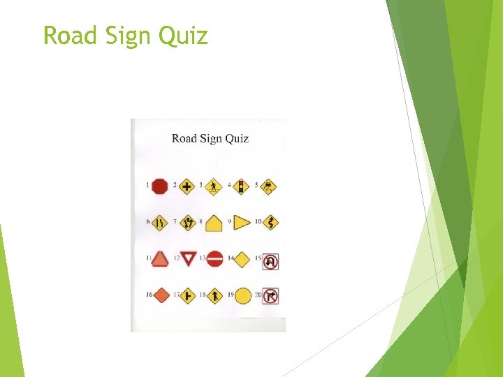 Road Sign Quiz