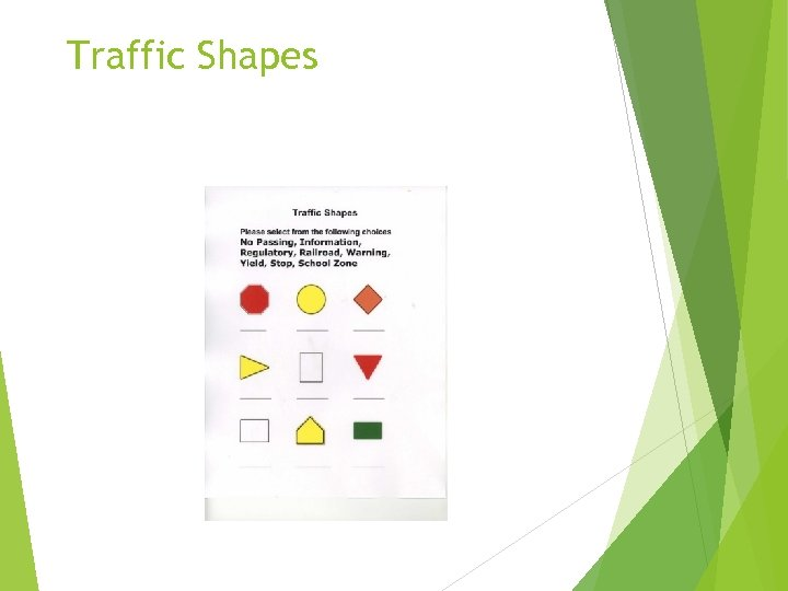 Traffic Shapes