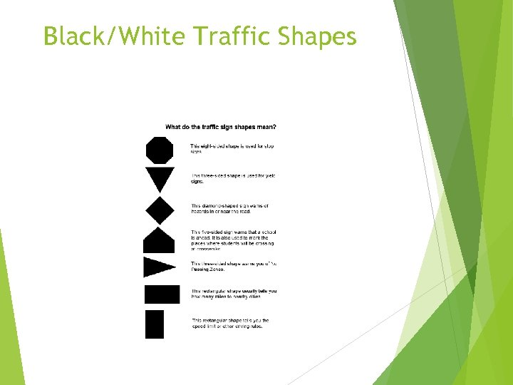 Black/White Traffic Shapes