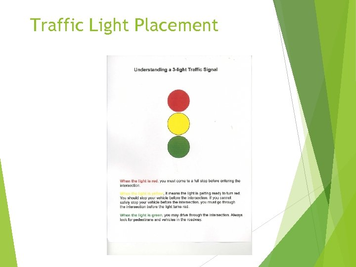 Traffic Light Placement