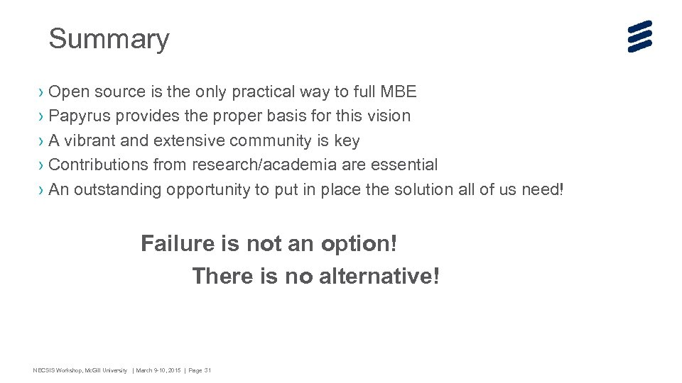 Summary › Open source is the only practical way to full MBE › Papyrus