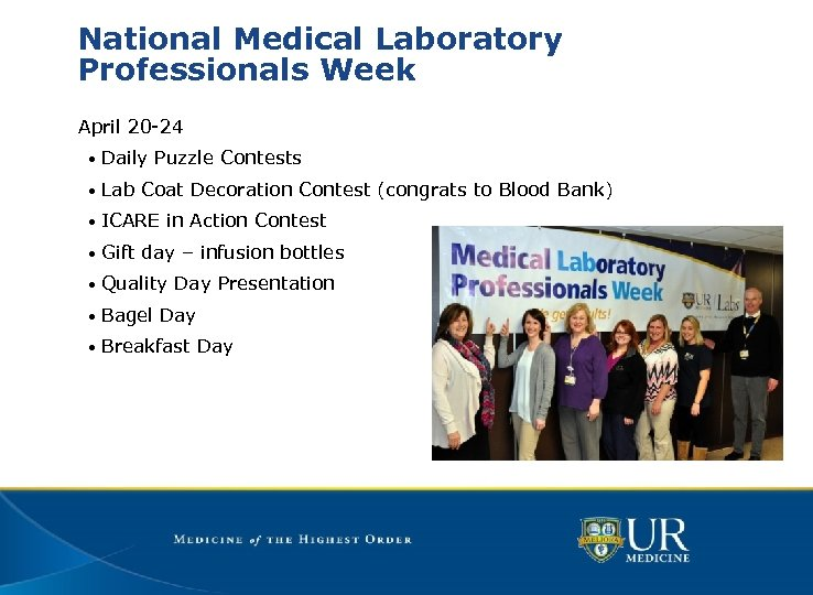 National Medical Laboratory Professionals Week April 20 -24 • Daily Puzzle Contests • Lab