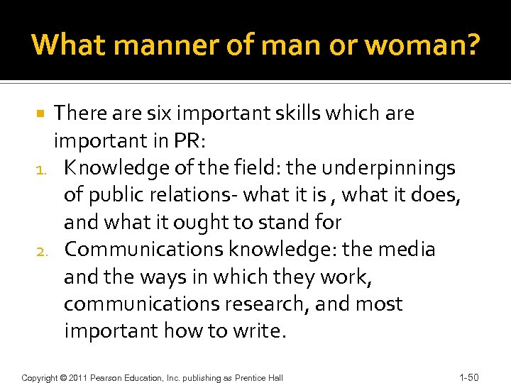 What manner of man or woman? There are six important skills which are important