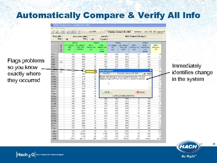 Automatically Compare & Verify All Info Flags problems so you know exactly where they