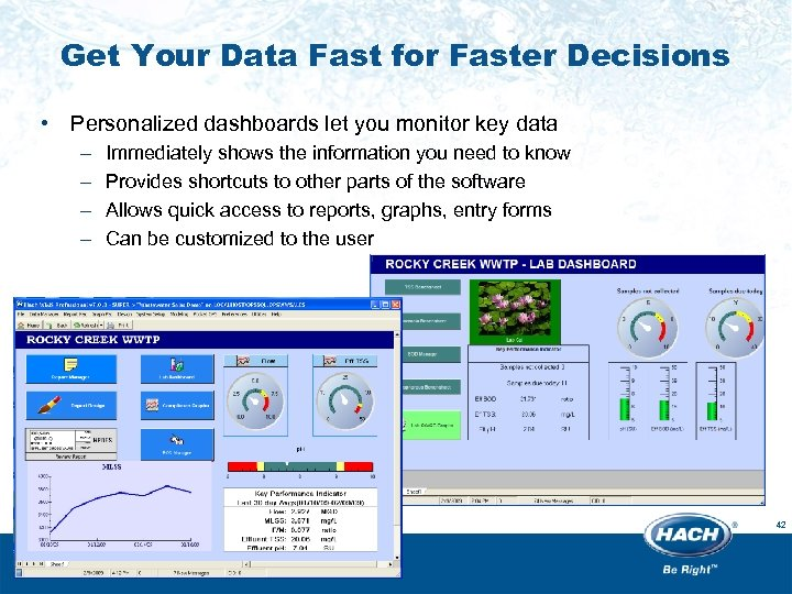 Get Your Data Fast for Faster Decisions • Personalized dashboards let you monitor key