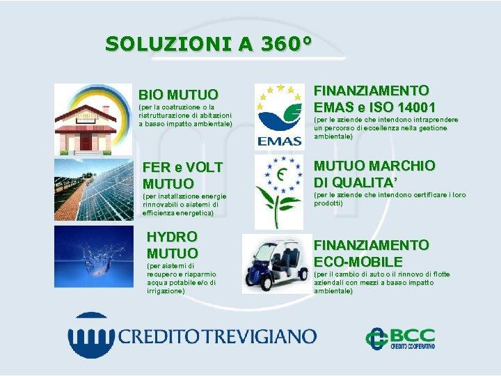 SOLUZIONI A 360° BIO MUTUO (per la costruzione o la ristrutturazione di abitazioni a