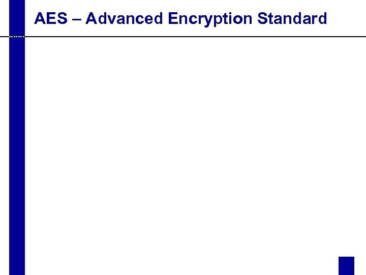 AES – Advanced Encryption Standard