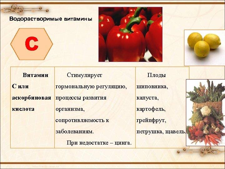 Водорастворимые витамины C Витамин С или Стимулирует гормональную регуляцию, Плоды шиповника, аскорбиновая процессы развития