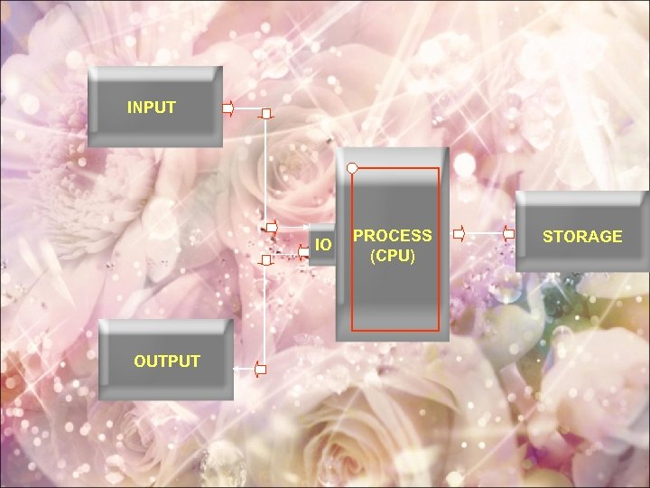 INPUT IO OUTPUT PROCESS (CPU) STORAGE