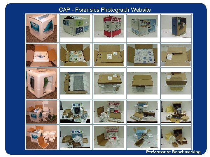 CAP - Forensics Photograph Website Performance Benchmarking
