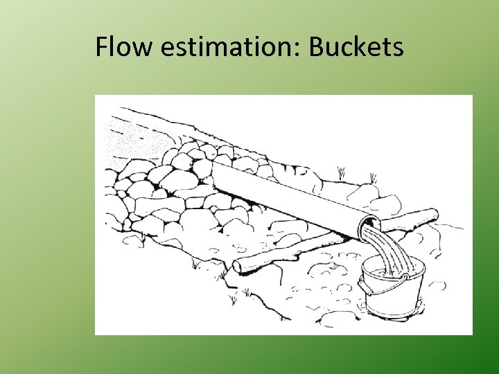Flow estimation: Buckets
