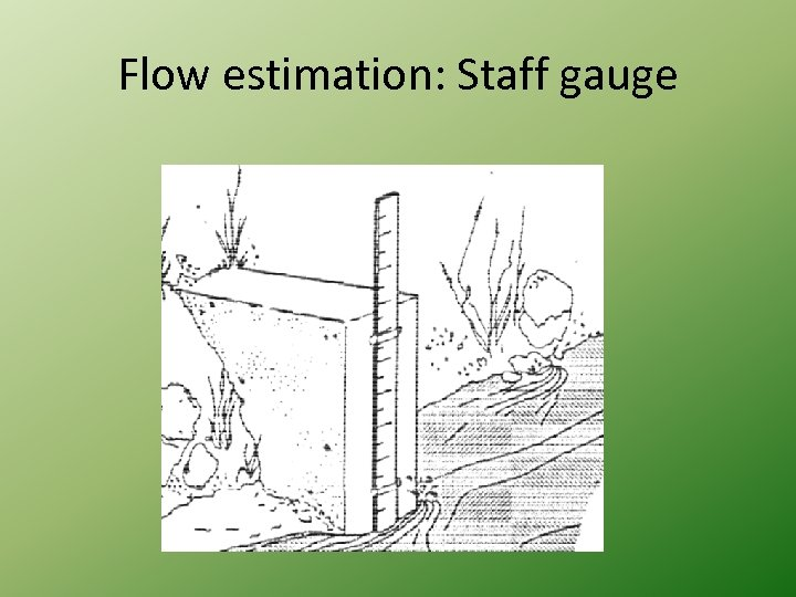 Flow estimation: Staff gauge