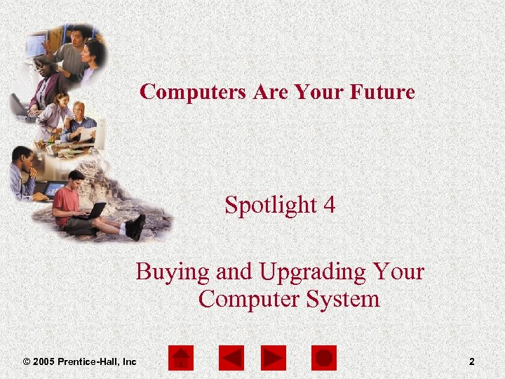 Computers Are Your Future Spotlight 4 Buying and Upgrading Your Computer System © 2005