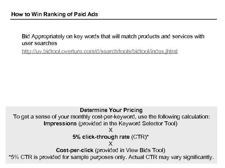 How to Win Ranking of Paid Ads Bid Appropriately on key words that will