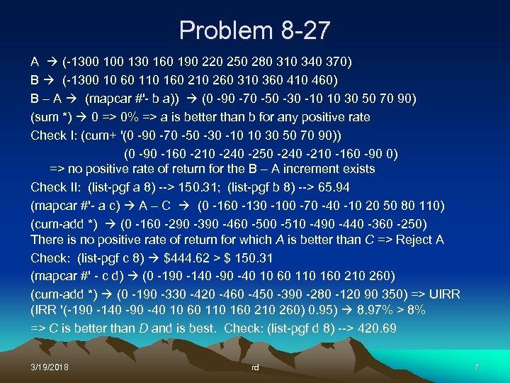 Problem 8 -27 A (-1300 130 160 190 220 250 280 310 340 370)