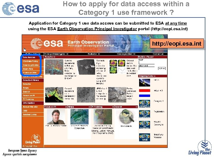 How to apply for data access within a Category 1 use framework ? Application