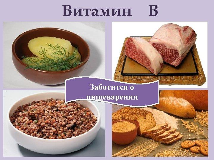 Витамин Заботится о пищеварении В