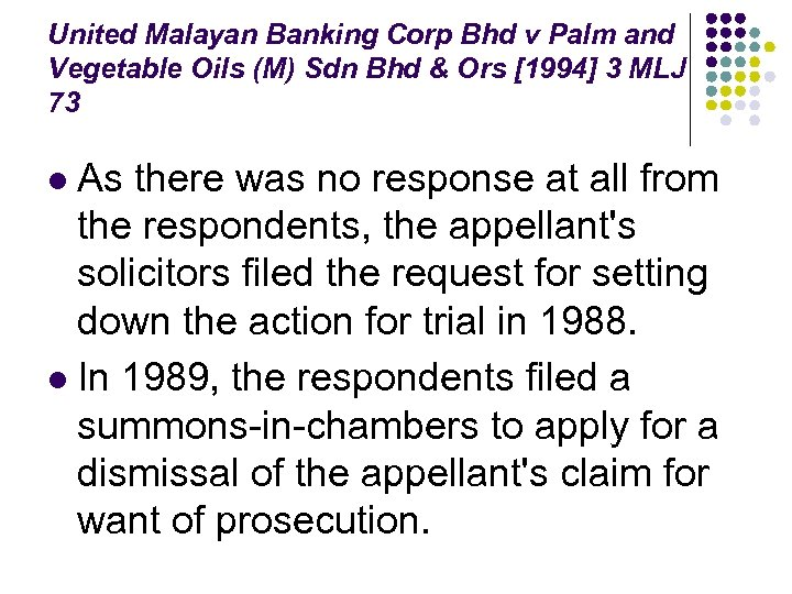 United Malayan Banking Corp Bhd v Palm and Vegetable Oils (M) Sdn Bhd &